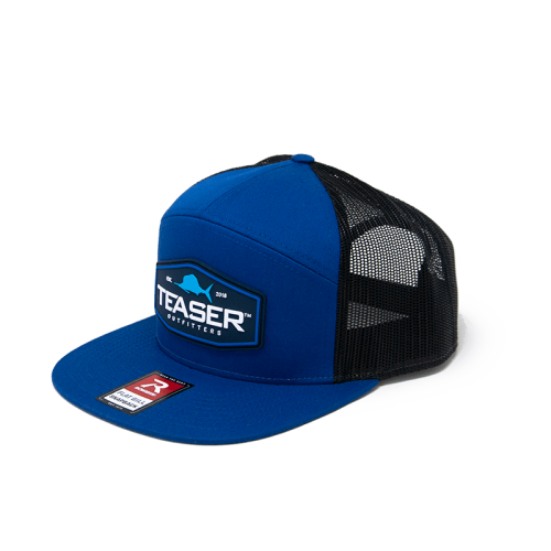 Royal Blue & Black Flatbill Snapback Front
